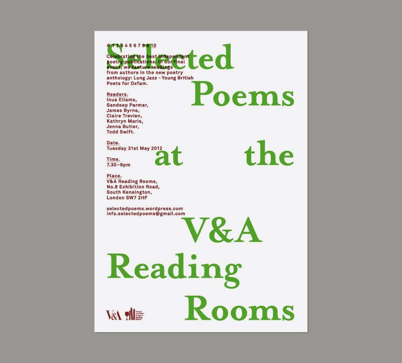 Selected Poems at the V&A
