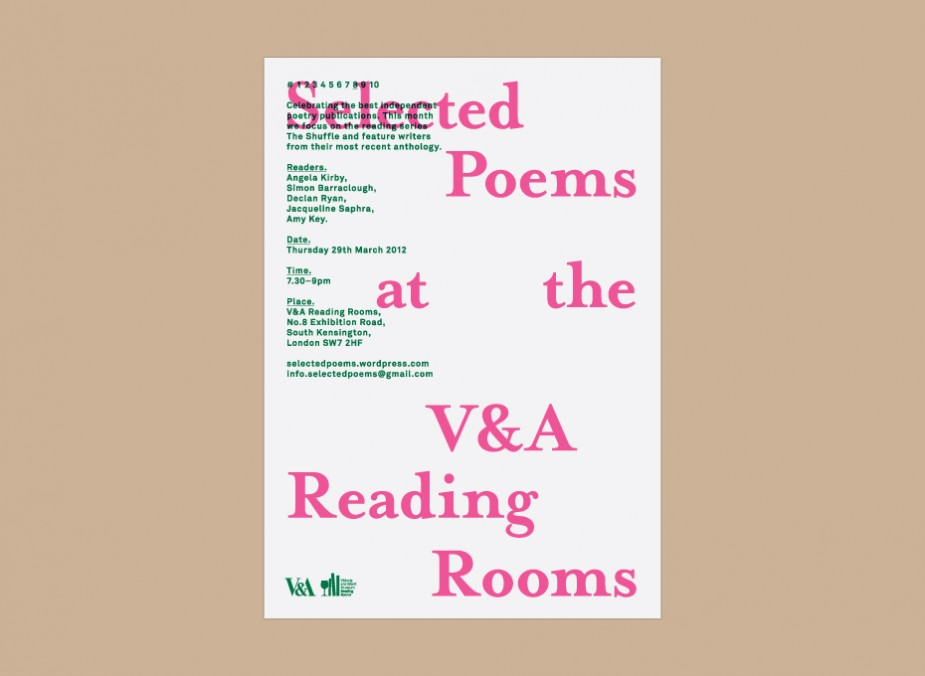 Selected Poems at the V&A 3