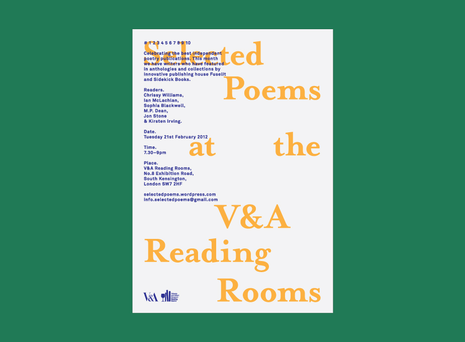 Selected Poems at the V&A 4